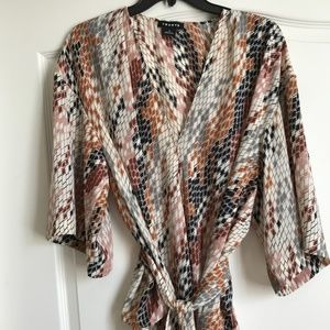 Trouve wrap blouse - Sz Medium - Rtl $78 Nordstrom